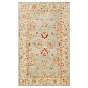 Safavieh Antiquity Hand Tufted Rug, Gray, Blue/Beige, 4'x6'