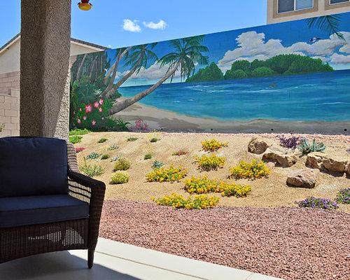 Backyard mural south pacific beach scene for Beach scene mural