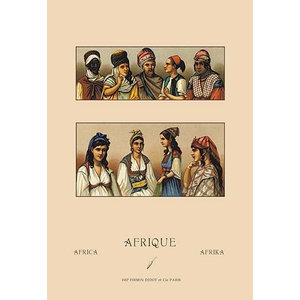 """Traditional Dress of Northern Africa #1 - Canvas Poster 20"""" x 30"""""""