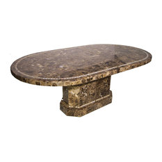 Elizabeth Mosaic Stone Round Oval Table Top, 30""