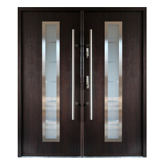 Perfect Ville Doors   Stainless Steel Modern Entry Double Door, Wenge Finish, Right  Hand Inswing