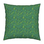 Kristi Heck K Heck Art Leaf Leaves Grass Throw Pillow Linen Cotton