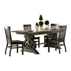 Magnussen Home Furnishings   Magnussen Bellamy 5 Piece Rectangular Dining  Set   Dining Sets
