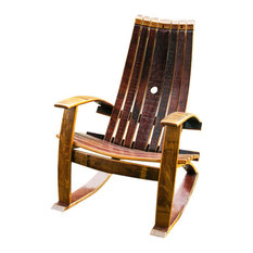 Wine Barrel Chairs   Wine Barrel Rocking Chair   Rocking Chairs