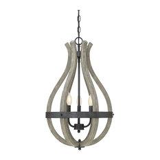 Savoy House Carrolton 3-Light Pendant, Weathered Birch
