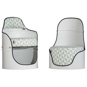 Pair of Metal Barrel Chairs, Scandi, Set of 2