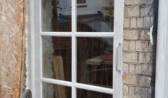 Door and frame and bay window.