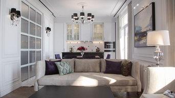 3х уровневая квартира в стиле современная классика