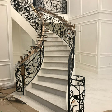 Curving Staircase - West Vancouver