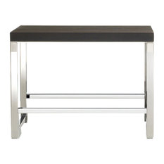 DW WO SOE Ash Wood Bench in Chrome