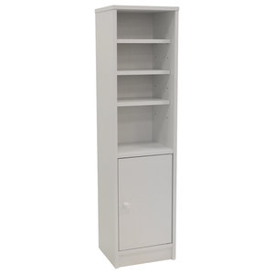 Jamerson Compact Cupboard/Bathroom Cabinet With Shelves, White