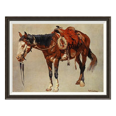 """""""Navajo Pony"""" Framed Canvas Giclee by William R. Leigh, 37x29"""""""