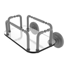 Que New Wall Mounted Guest Towel Holder, Matte Gray