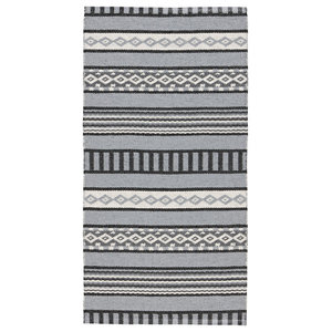 Linne Woven Floor Cloth, Grey and White, 70x140 cm