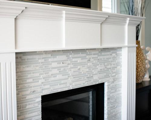 Glass Tile Fireplace | Houzz