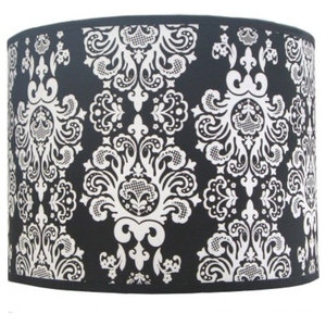 Pachyderme Baroque N'Roll Lampshade, Black, Small