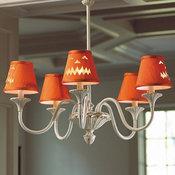 Jack-o'-lantern Chandelier Shade, Orange