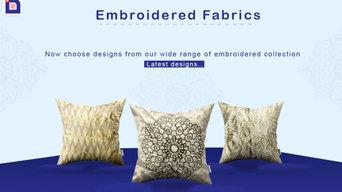 Embroidered Cushion Fabrics