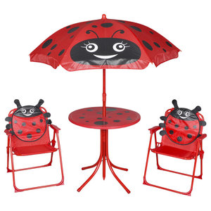 VidaXL 4-Piece Ladybird Design Kids' Garden Furniture Set