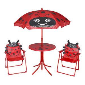 VidaXL 4-Piece Ladybird Design Kids' Garden Furniture Set