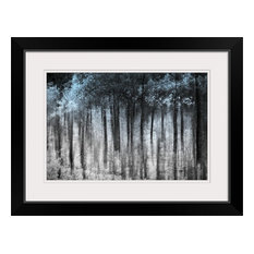 """Ghost Forest "" Black Framed Art Print, 26""x20""x1"""
