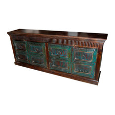 Mogul Interior - Consigned Hand-Carved Antique Sideboard - Accent Chests And Cabinets
