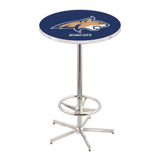 L216 - 42-inch Chrome Montana State Pub Table By Holland Bar Stool Co.