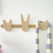 The Animals of Whittling Wood Coat Hooks