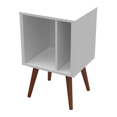 Small Cubby Bookcase, White Satin
