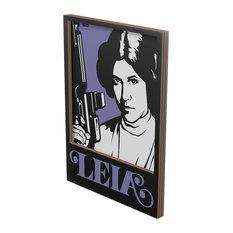 Princess Leia Cardboard Wall Panel, Small