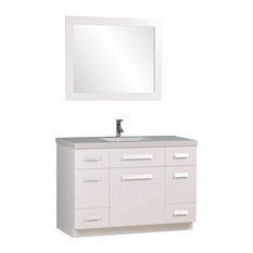 White 46 Inch Bathroom Vanity | Houzz