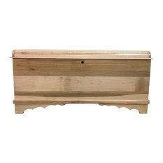 Amish Cedar Chest, Waterfall Top, Brown Maple Wood, 46""
