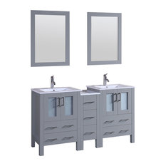"60"" Bosconi Gray Double Vanity"