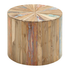 Benzara, Woodland Imprts, The Urban Port   Lovely And Natural Reclaimed  Wood Side Table