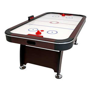 Sunnydaze 7' Electric Air Hockey Game Table With Scorer and Accessories