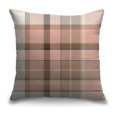 """Pink Madras Plaid Tweed"" Pillow 16""x16"""