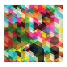 """Colourful Geometry"" Wallpaper, 300x231 Cm"