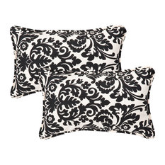 Essence Black Beige Rectangle Throw Pillow, Set of 2