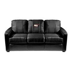 Miami Heat NBA Silver Sofa With Secondary Logo Panel