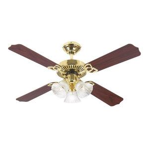Volume Lighting Polished Brass Ceiling Fan V5954-2 Polished Brass