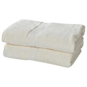 Growers Collection Zero-Twist Pima Cotton 2-Piece Bath Towel Set, Ivory