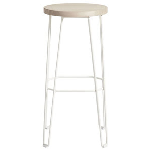Move Bar Stool, White and Natural, Large
