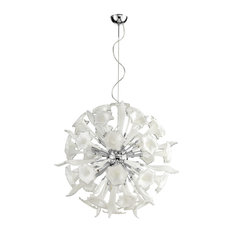 Cyan Design 05726 Remy White and Clear Glass Pendant