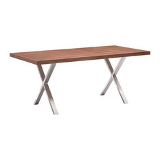 Contemporary Walnut Dining Table Zenith Modern Walnut Extendable