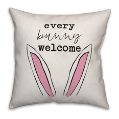 Every Bunny Welcome 16x16 Throw Pillow