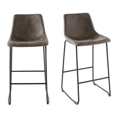 Picket House Furnishings Collins Metal Bar Stool Set, Gray