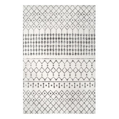 nuLOOM Zola Modern Trellis Contemporary Area Rug, Gray, 9'x12'