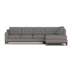 Apt2B   Brentwood 2 Piece Sectional Sleeper Sofa, Ash, Chaise On Left