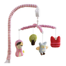 Eclectic Nursery Hawaii Living 63 - Musical Mobile, Scarlet - Baby Mobiles