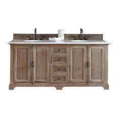 James Martin 72 Double Bowl Vanity Top Only Carrara White Stone Bathroom